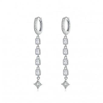 Silver Earrings Long Dangle - 6552