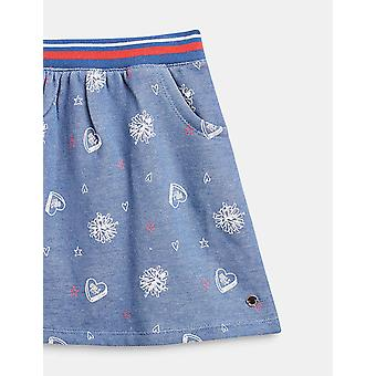 Esprit Girls' Cotton Sweatshirt Fabric Skirt In A Denim Look