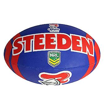 Steeden NRL Newcastle Knights Supporter 2020 Rugby League Ball Blau/Rot