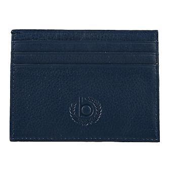 Bugatti mens kredit kort innehavaren kort innehavaren läderfodral blå 4131