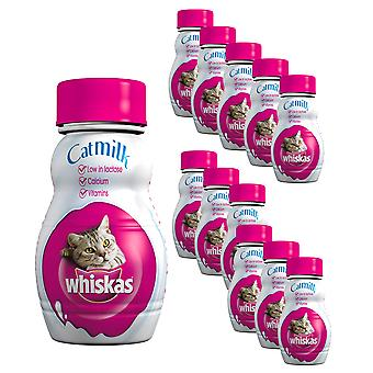 2 x Whiskas Cat Milk Drink Treat Calcium Protein Healthy Pet 6 Bouteilles x 200ml