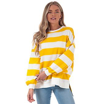 Women's Only Chili Stripe Crew Sweatshirt in White