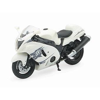 1:18 skala støpt motorsykkel - hvit Suzuki GSX 1300R