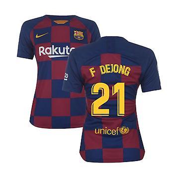 2019-2020 Barcelona Home Nike Ladies Shirt (F De Jong 21)