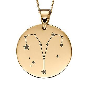 جوشوا جيمس الثمينة 9ct الذهب الأصفر برج الحمل زودياك قلادة