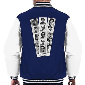 Thunderbirds schwarz und weiß Charakter Pass Design Männer's Varsity Jacke