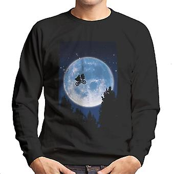E.T. Flying Bicycle Movie Poster Men's Sweatshirt