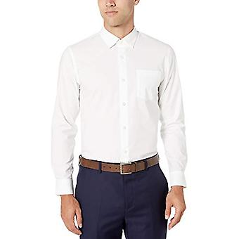 Essentials Men's Slim-Fit Wrinkle-Resistant Stretch Dress Shirt, White...