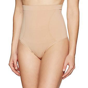 Brand - Arabella Women's Cinching Seamless Thong Shapewear, Nude, Large