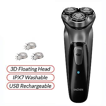 BlackStone 3D Electric Shaver Men Washable USB Rechargeable Shaving Beard Machine