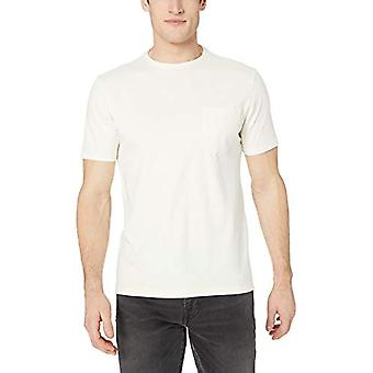 Goodthreads Men's Short-Sleeve Sueded Jersey Crewneck Pocket T-Shirt, Wit, ...