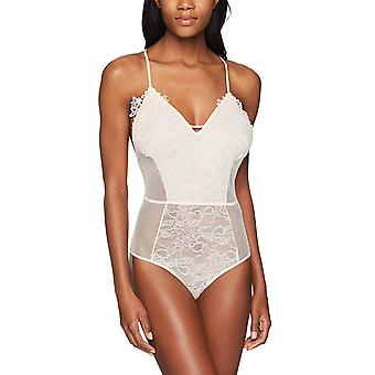Mae Women's T-Back Lace And Mesh Body, Crème De Peche, Small