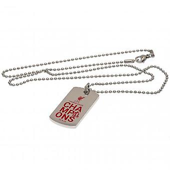 Liverpool Premier League Champions Kleur Crest Dog Tag