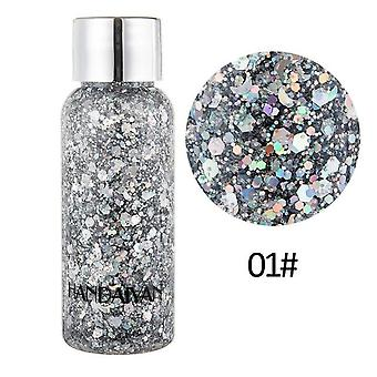 Holographic Mermaid Glitter Eyeshadow Gel For Body Face Liquid Makeup