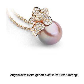 Luna-Pearls - Pendant Brilliant - Rose Gold 750/- Freshwater-ZP