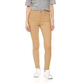 Essentials Naiset&s Värillinen Skinny Jean, Khaki, 14 Regular