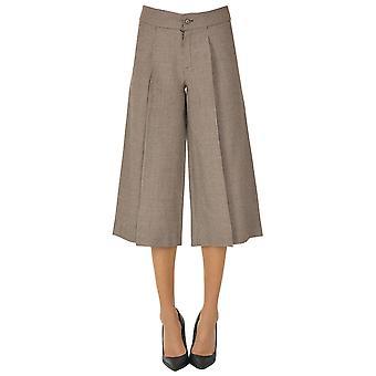 Paio Crippa Ezgl551006 Women's Burgundy Wool Pants