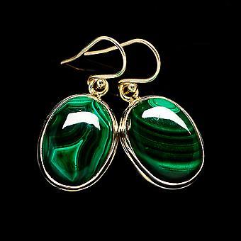 أقراط مالاشيت 1 3/8 & نقلا عن ( 925 الفضة الاسترليني) -- اليدوية اليدوية بوهو خمر مجوهرات EARR404293