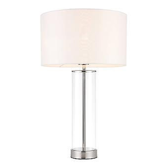 Endon Lessina - Tafellamp Wit, Gepolijst Nikkel, E27