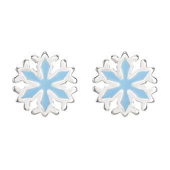 Disney Frozen Flocos de Neve Brincos de Garanhão Banhado de Prata