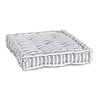 Nicola Spring Square Padded French Mattress Dining Chair Cushion Seat Pad - Grey Stripe