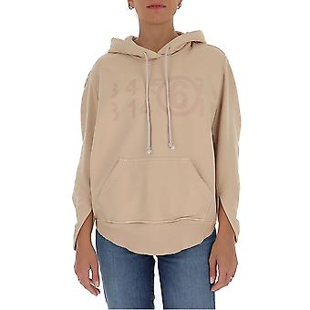Mm6 Maison Margiela S62gu0037s25409121 Femmes-apos;s Beige Cotton Sweatshirt