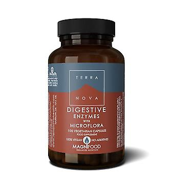 Terranova Digestive Enzymes with Microflora Vegicaps 100
