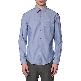 Boss 5039898010209332480 Men's Camicia di cotone blu