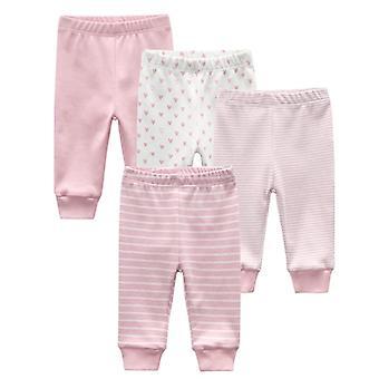 Baby Long Pants, Roupas de Desenho Animado Listradas Leggings Completas