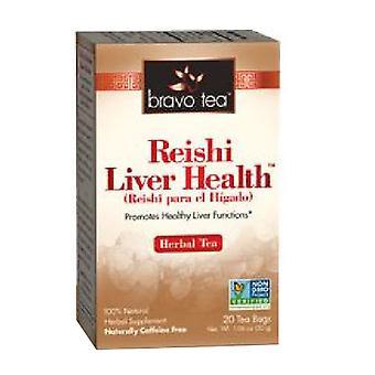 Bravo Tea & Herbs Reishi Liver Health Tea, 20 Bags
