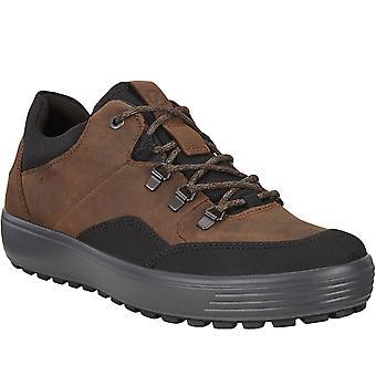 ECCO Mens Soft 7 GORE-TEX Waterproof Walking Hiking Trainers Shoes - Black/Cocoa
