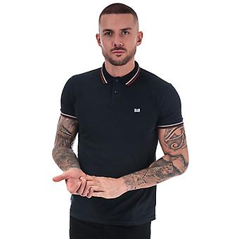 Men's Weekend Offender Liberty Tipped Polo Shirt in Blue