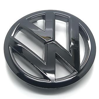Kiiltävä Musta VW Volkswagen Golf MK6 Etugrilli KonepeltiMerkki Tunnus Grilli 140mm - 2009-2012