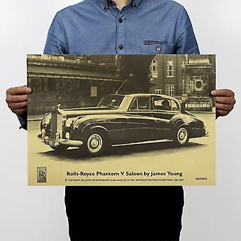 Rolls-royce berühmten antike Auto Vintage Kraft Papier Poster