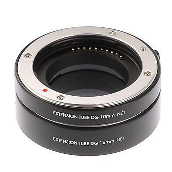 Ruili fém makró af auto fókusz kiterjesztő csövek 10mm 16mm set dg sony nex e-mount kamera nex 3 3