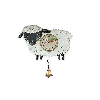 Allen Designs Black Sheep Wall Mounted Pendulum Clock