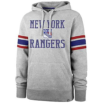 '47 Marka NHL New York Rangers Rękaw Stripe Hoody