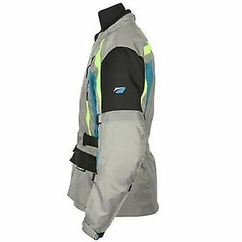 Spada Turini Men's Motorcycle Jacket Grey Waterproof CE Armour Hi-Vis