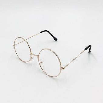 Pyöreät silmälasit Kehys / naiset Tyhjennä väärennetyt lasit.