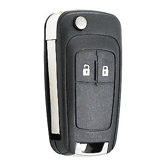 2 Button Flip Remote Key Shell Case Folding Car Key Housing