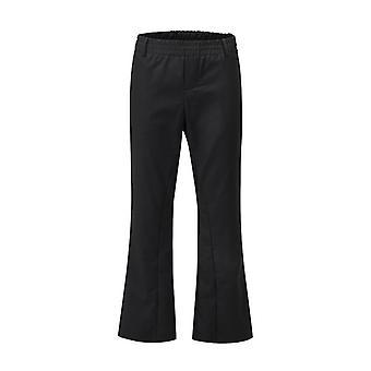 Original enfärgad elastisk midja flare byxor, män och kvinnor, lös brett ben,