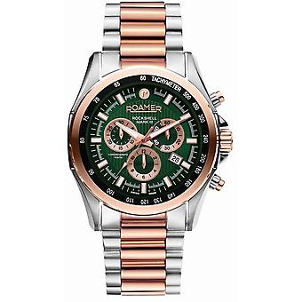 Roamer 220837 49 75 20 Two Tone Rockshell Mark III Chronograph Wristwatch
