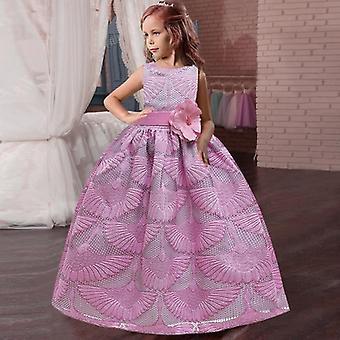 Лепестки длинные рукава бальное платье