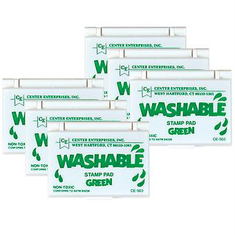 Washable Stamp Pad, Green, Pack Of 6