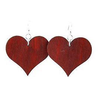 Large Solid Heart Earrings