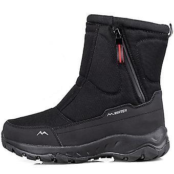 Winter Thick, Snow Boots Plus Velvet Warm & Side-zipper Outdoor Casual, Short