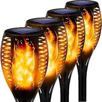 Solar 33led Flame Light, Torch Outdoor Induction Light, Garden Ground-mounted Decorative Landscape Light, 4 Pcs