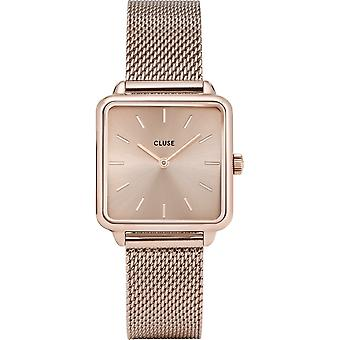 Cluse CW0101207009 Women's La Tétragone Rose Gold Tone Wristwatch