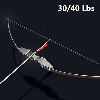 Recurve For Right Hand Wooden Archery Bow, Outdoor Shooting Hunting Accessories