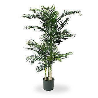 Keinotekoinen kultainen cane Areca Palm x3 140 cm